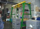 workshop gantry cranes movable under load dual beam